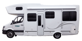 Side profile photo of the Maui River 6 Berth Campervan