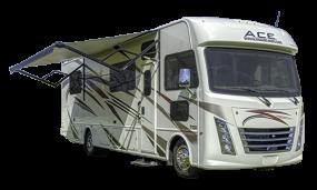 Side profile of the Roadbear Class A 30-32' Campervan
