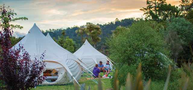 Glamping option on kiwi Experience