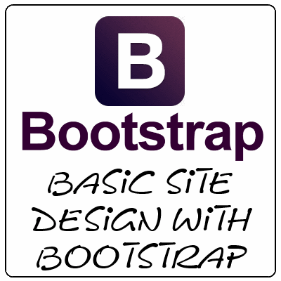 Basic site design with Bootstrap