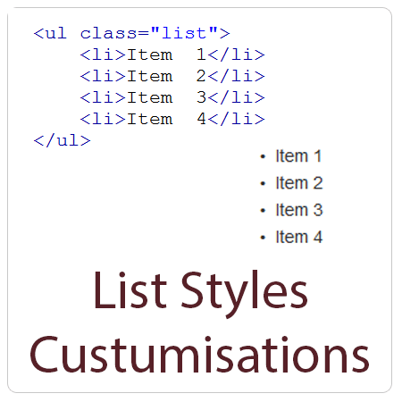 List Styles Customisation