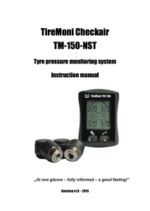 TireMoni TM-150 manual in English