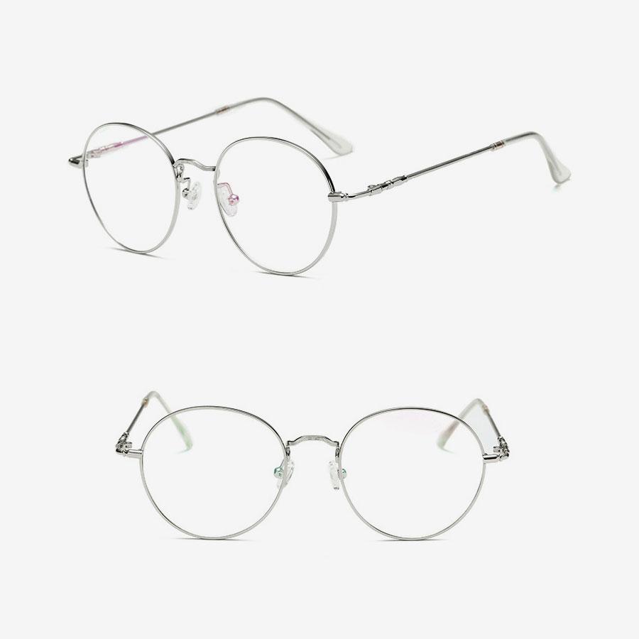 Rounded Stainless Steel Eyeglasses Frames