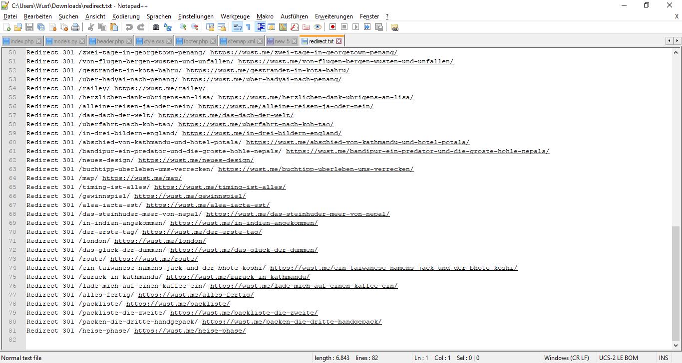 301 redirects für htaccess aus sitemap xml extrahieren wustis blog