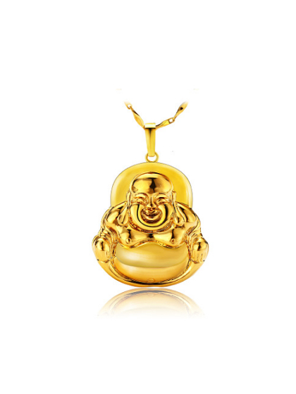 Wholesale copper alloy 23k gold plated retro style laughing buddha copper alloy 23k gold plated retro style laughing buddha pendant aloadofball Image collections