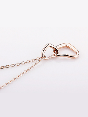Simple Style Heart Shaped Rose Gold Necklace