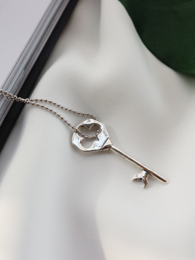 Personalized style with Silver-Plated Silver Necklace