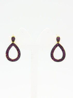 style with Gold Plated Copper Zircon Drop Earring