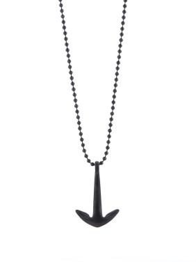 Black Hook Youself ! Gun Color plated Titanium  necklace