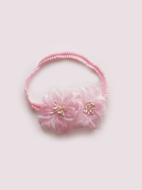 Double Flowers Hair Band