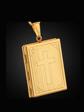 Cross Rectangle Box Necklace
