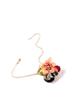 Personality Exaggeration Flower Enamel Necklace