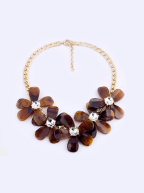 Personalized Retro Fowers Shaped Alloy Necklace