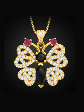 Fashion Butterfly Zircon Necklace