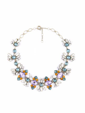 Colorful Rhinestones Flowers Alloy Necklace