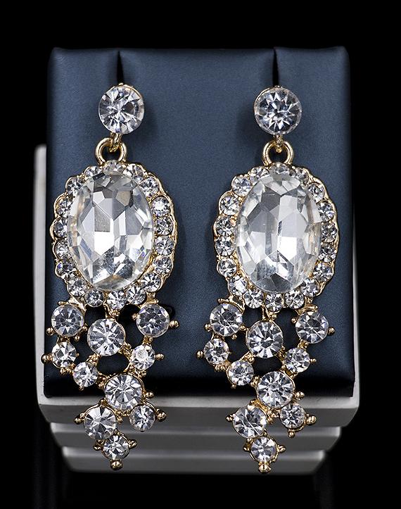 Cubic Glass Rhinestones Two Pieces Jewelry Set