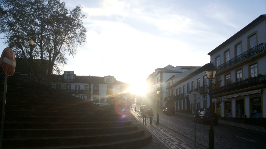 Sunset at Rua da Sé