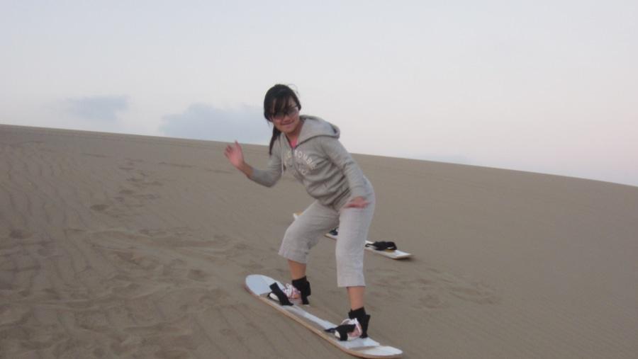 Huacachina desert sandboarding