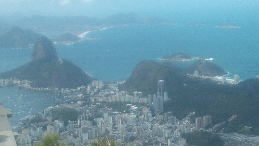 View from Corcovado to the Sugar Loaf
