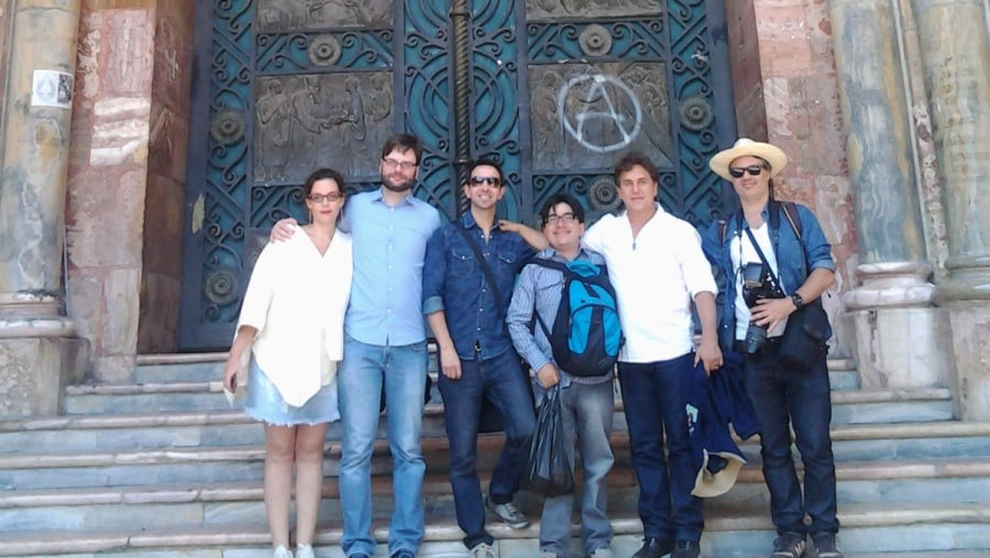 With our local guide Felipe Cardoso in the New Cathedral of Cuenca.