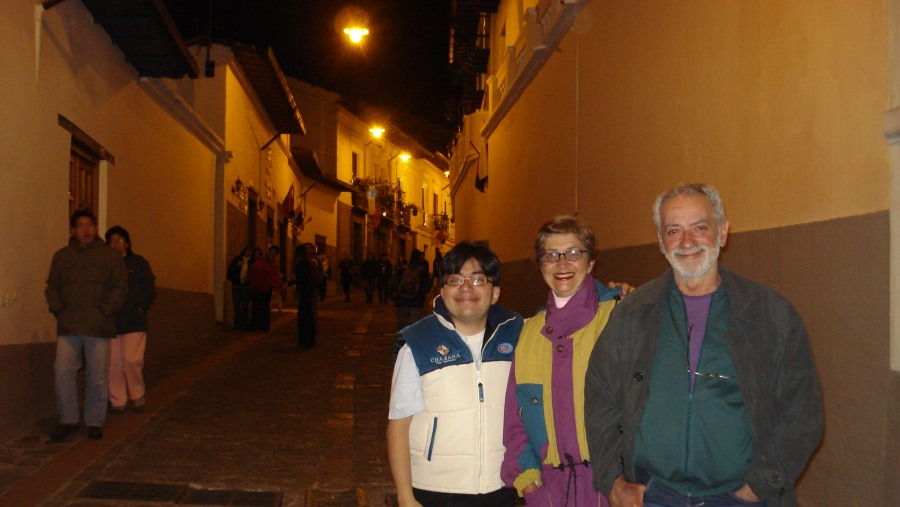 With Mrs. and Mr. Oliveira in La Ronda Street.