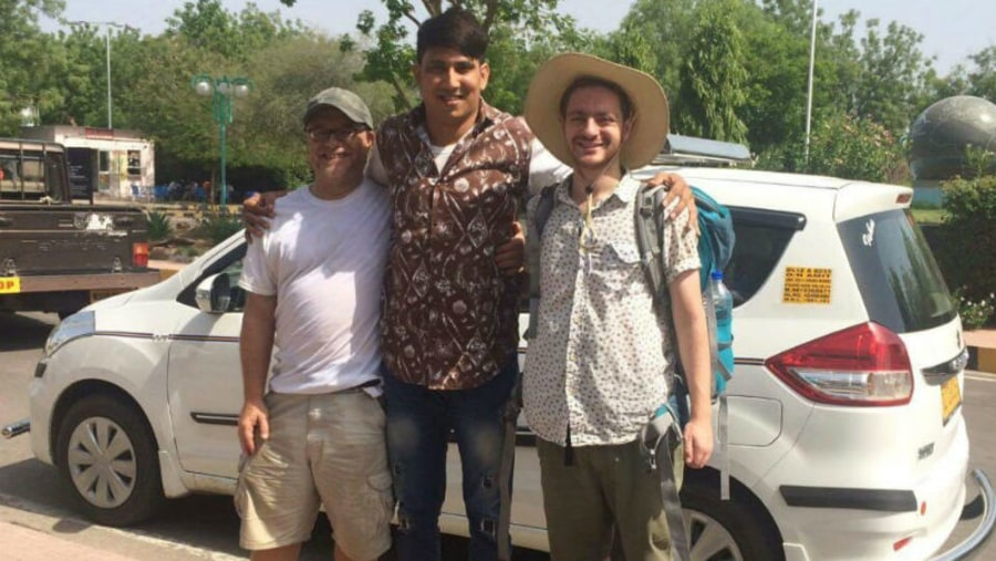 Driver Amit with Guests