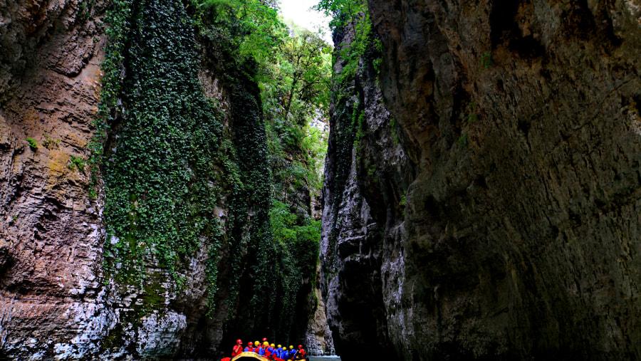 Rafting in Osumi canyons, albania tourism, albania tour