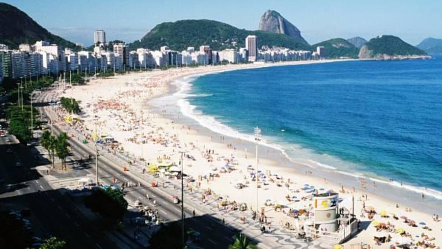 The famous princess of the sea, the beach of Copacabana.