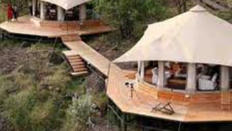 Luxury tented camp by inside africa budget safaris
