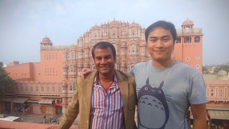 At hawamahal with guest from Thailand