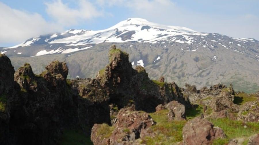 Snaefellsjokull glacier and volcano.