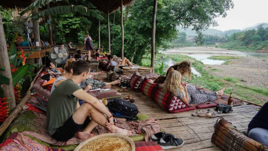 Utopia Restaurant by the Nam Khan River Bank