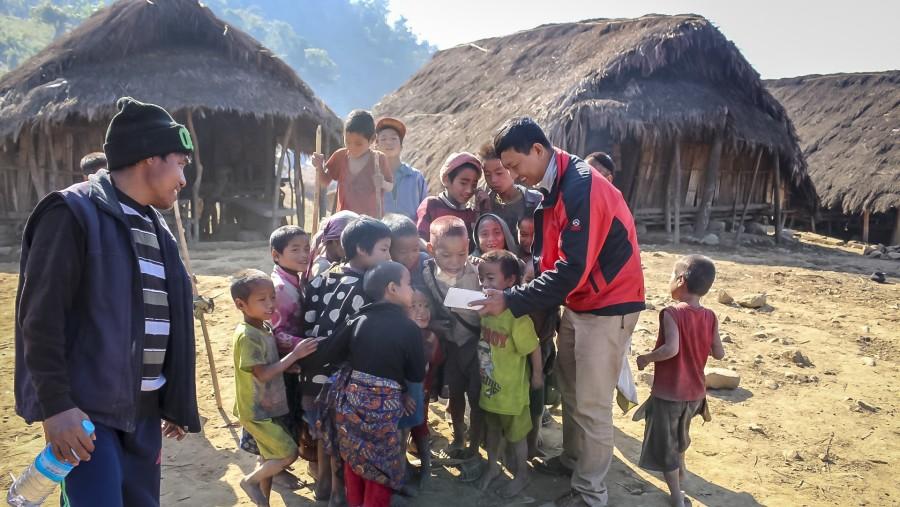 Naga children and me