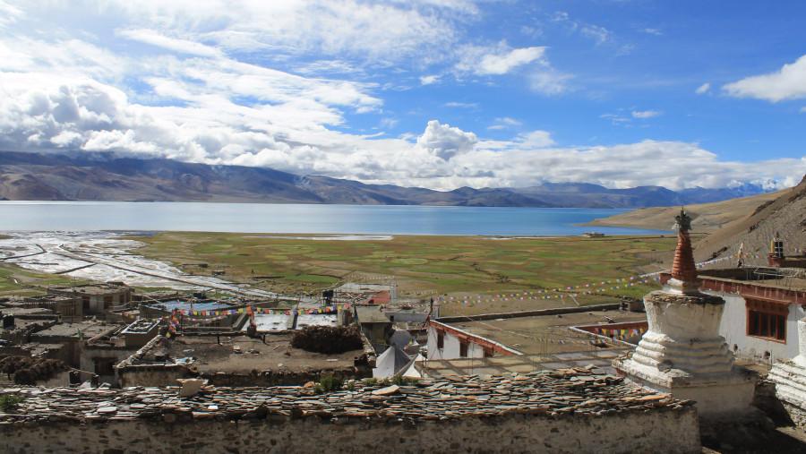 Tsomoriri Lake view from Korzok