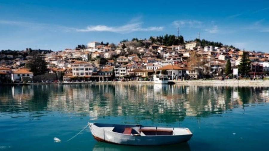 Ohrid Town from the Port
