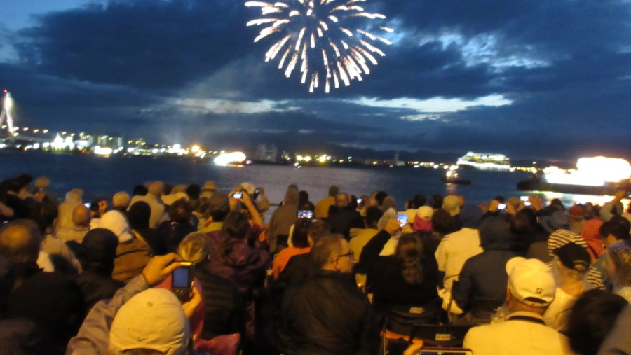 Nebuta festival fireworks display