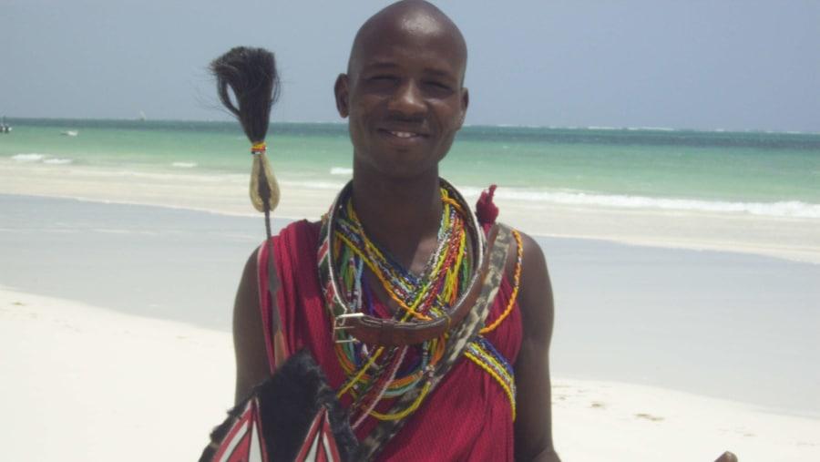 Masai on Beach