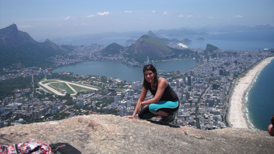 On the top of 2 brothers rock - Alto Vidigal Favela