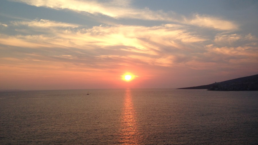 Sunset in Saranda