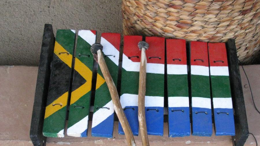 SA flag - set to music