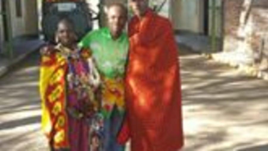 With Maasai