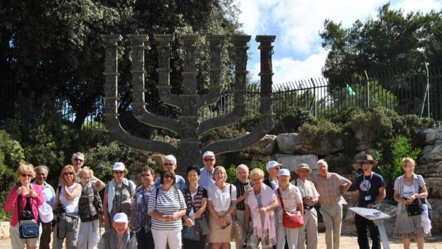 Menora near the Knesset