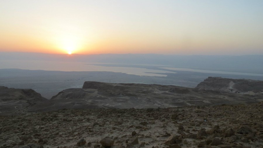 Sun Rise over the Dead Sea