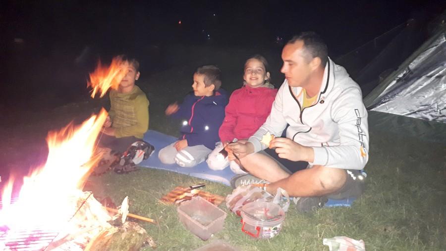 Campfire, mountain touring