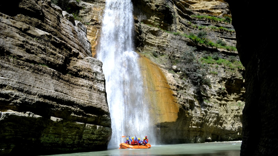 Rafting in Osumi canyons, Waterfall of Love, albania tourism, albania tour
