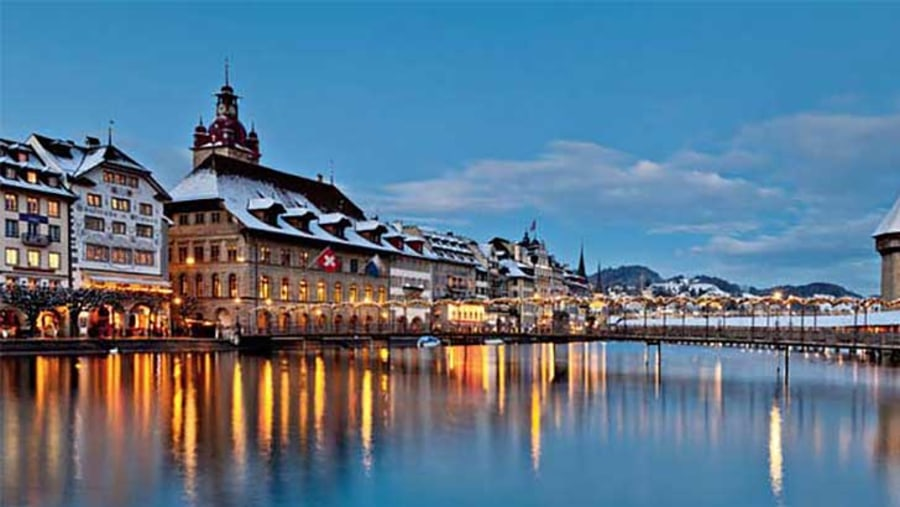 Luzern at dusk