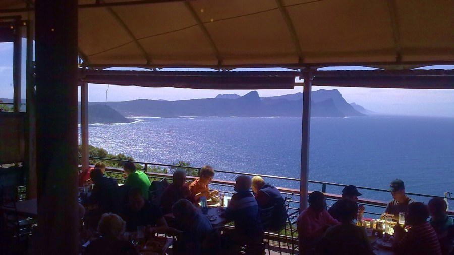 Lunch with a view over False bay