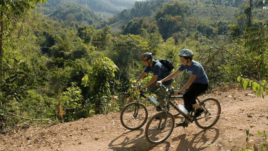Biking to Elephant Village