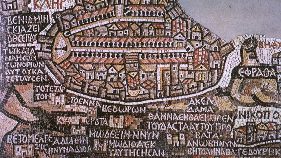 Mosaic Map of Jerusalem