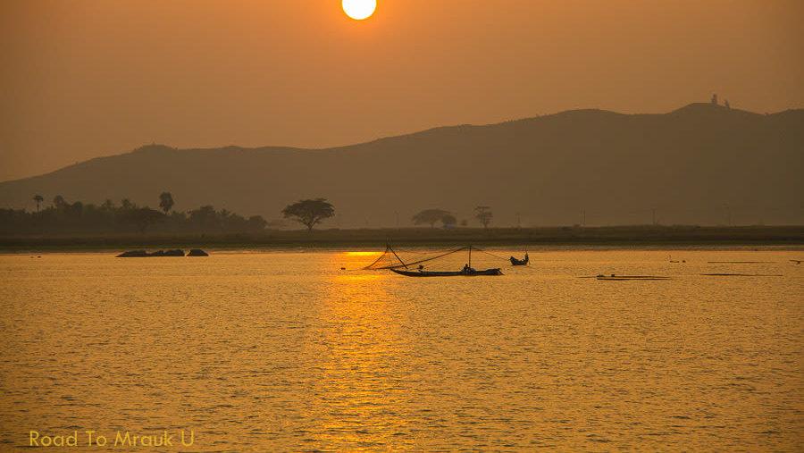 Sunset on the Kaladan river